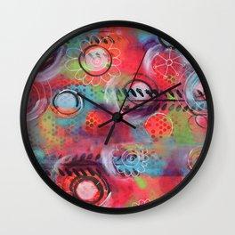 """Spinning!"" | Original painting by Mimi Bondi Wall Clock"