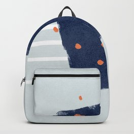 A square with dots and lines Backpack
