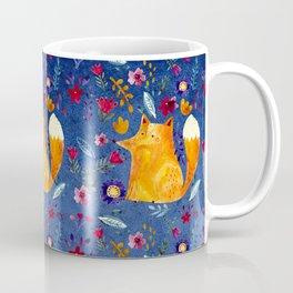 The Smart Fox in Flower Garden Coffee Mug