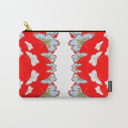 DESIGN PATTERN OF RED & WHITE BUTTERFLIES Carry-All Pouch