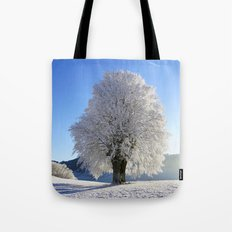 Frost Covered Tree 2 Tote Bag