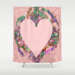 Old Fashioned Pink Heart Shower Curtain