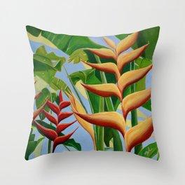 Beharry Heliconia - Grenada Throw Pillow