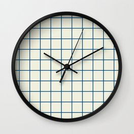 windowpane plaid Wall Clock