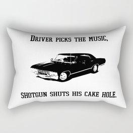 """Driver picks the music"" - Dean Winchester Quote Print Rectangular Pillow"