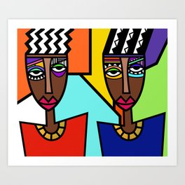 African Beauties  Art Print