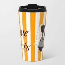 Love Cats Wedding Travel Mug