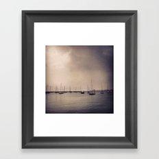 Foggy Harbor - Chicago Framed Art Print