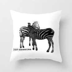 B&W Obsession Throw Pillow
