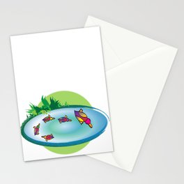 Lucky Ducks Stationery Cards