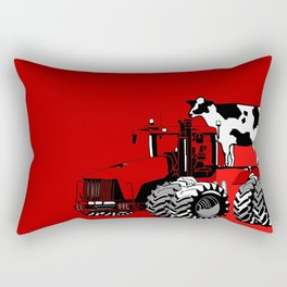 stolen tractor and cow Rectangular Pillow