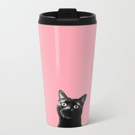 what's up? (pink) Metal Travel Mug