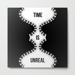 Time Is Unreal Modern Abstract Metal Print