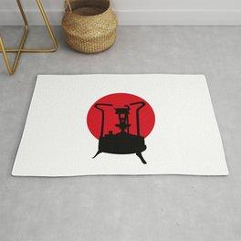 Flag of Japan   Vintage Pressure Stove Rug