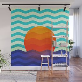 019 OWLY swimming at the sunrise Wall Mural