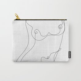 Minimal Line Art One Line Female Figure I Carry-All Pouch