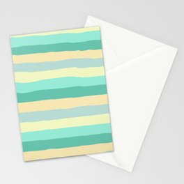 lumpy or bumpy lines abstract and summer colorful - QAB271 Stationery Cards