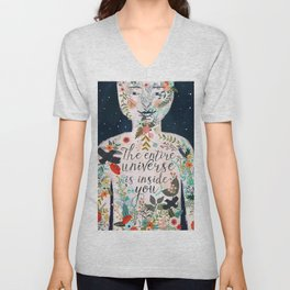 The entire universe is inside you Unisex V-Neck
