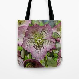 HELLEBORES FLOWERS Tote Bag