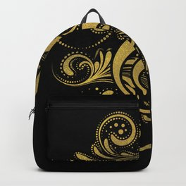 Treble Clef with Decorative Gold Ornament Backpack