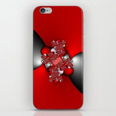 Red and Silver and Black iPhone & iPod Skin