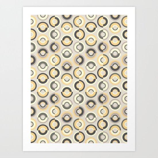 Scandi Circles Art Print