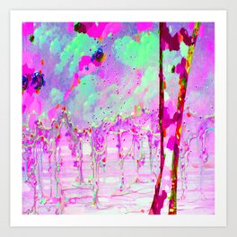 Abstraction of relief Art Print