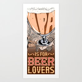 Love Letter to IPA Art Print