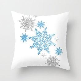 SnowFlake Flurry Throw Pillow