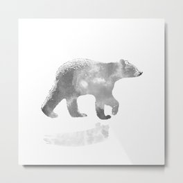 graphic bear III Metal Print