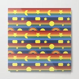 70's Sunrise Stripe Metal Print