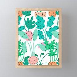 Postmodern Planters in White Framed Mini Art Print