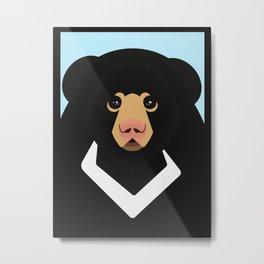 Sloth bear Metal Print