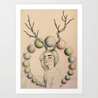 dazed and confused Art Prints featuring Dazed & Confused by Emelia Taveras
