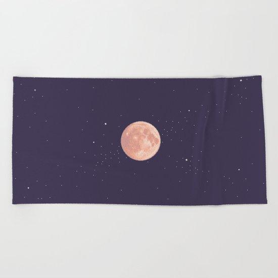 Supermoon Beach Towel