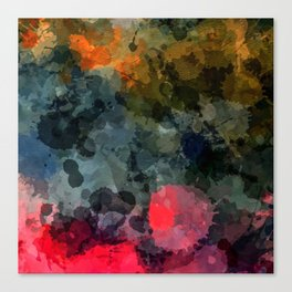 Darkness Comes Modern Abstract Canvas Print