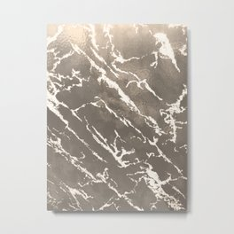Grey textured marble for clothes, furniture and original gifts Metal Print