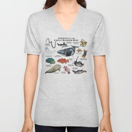 Animals of the Great Barrier Reef Unisex V-Neck
