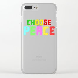 Spread the Love with this Peace of mind Tshirt Design Choose peace Clear iPhone Case