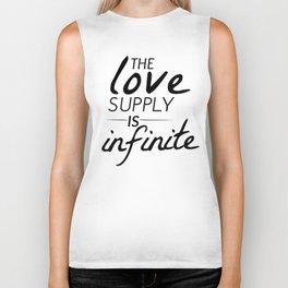 The Love Supply is Infinite Biker Tank