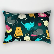 Kitty Space Rectangular Pillow