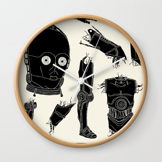 Decommissioned: C-3P0 Wall Clock