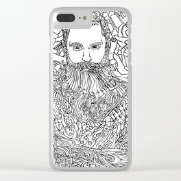 Tattooed with Roses Clear iPhone Case