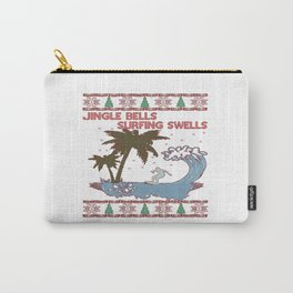 Surfing Christmas Carry-All Pouch