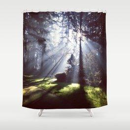Sun Beams Shower Curtain