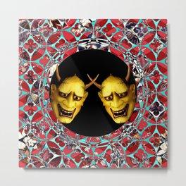 Kooky Kabuki II (Just Say Noh) Metal Print