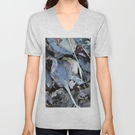 The Nature of Leaves - a Midwest Winter Unisex V-Neck