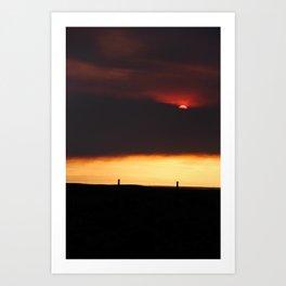 Red Horizon Art Print