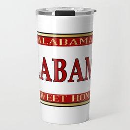Alabama State Name License Plate Travel Mug