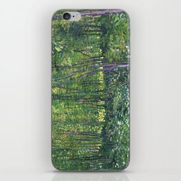 1887-Vincent van Gogh-Trees and undergrowth iPhone Skin